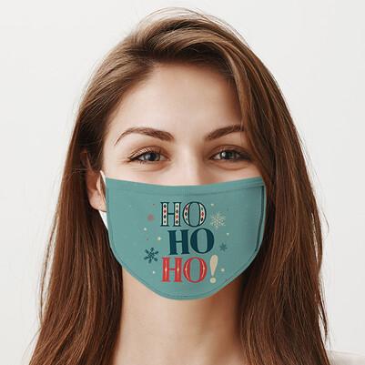 - Ho Ho Tasarımlı Yıkanabilir Maske