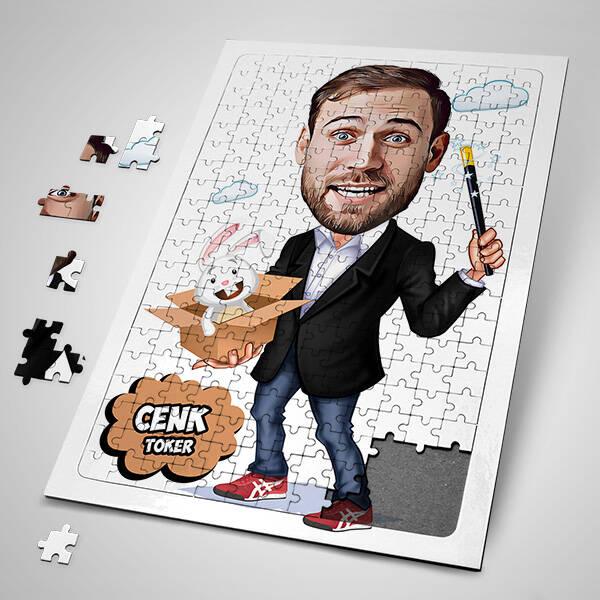 Hokkabaz Karikatürlü Puzzle