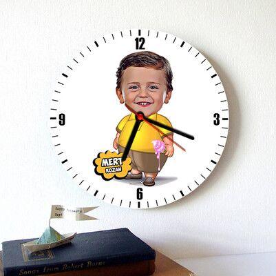 - Homini Gırtlak Karikatürlü Duvar Saati