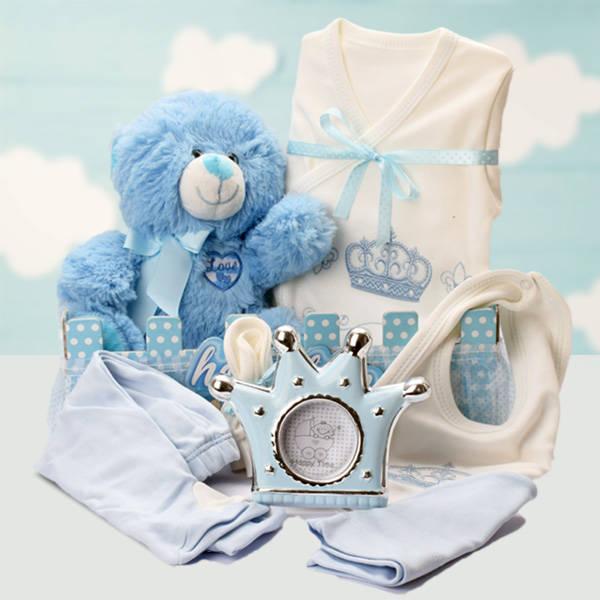 Hoşgeldin Bebeğim Erkek Bebek Hediye Sepeti