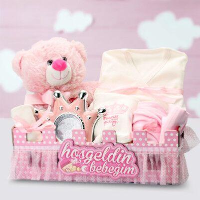 - Hoşgeldin Bebeğim Kız Bebek Hediye Sepeti