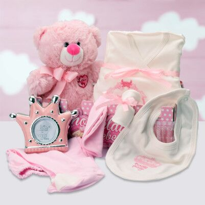 Hoşgeldin Bebeğim Kız Bebek Hediye Sepeti - Thumbnail