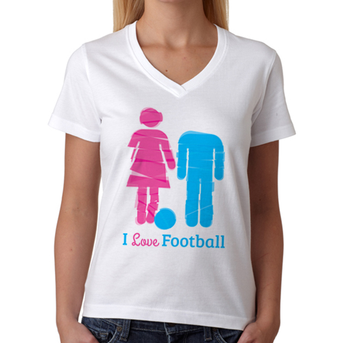 I Love Football Bayan Tişörtü