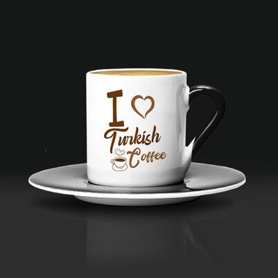 I Love Turkish Coffee Fincanı - Thumbnail