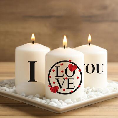 - I Love You 3'lü Mum Seti
