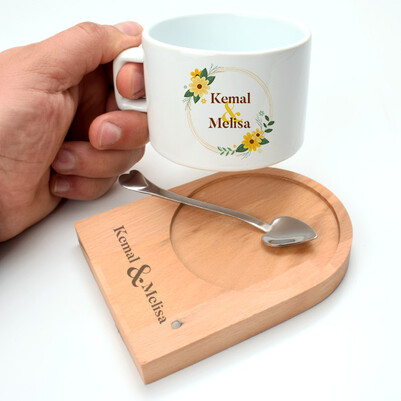 İki İsimli Lüks Çay Fincanı - Thumbnail