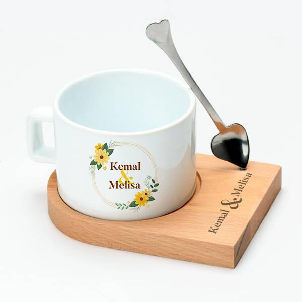 İki İsimli Lüks Çay Fincanı