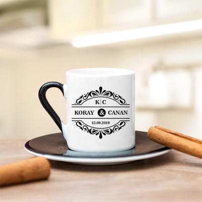 İki İsimli ve Tarihli Kahve Fincanı - Thumbnail