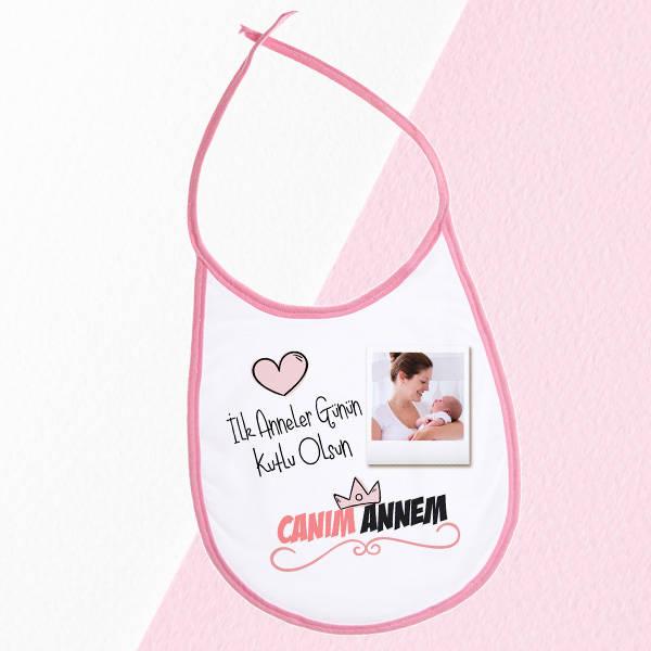 İlk Anneler Günü Hediyesi Mama Önlüğü Pembe