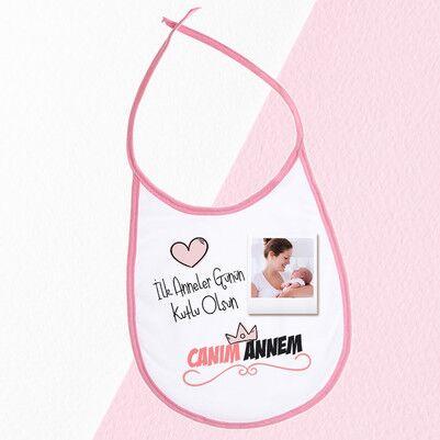 - İlk Anneler Günü Hediyesi Mama Önlüğü Pembe