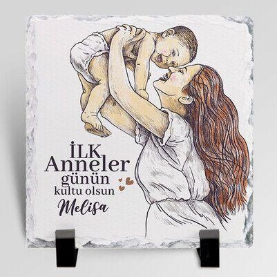 - İlk Anneler Günü Hediyesi Taş Blok