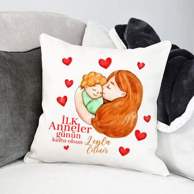 - İlk Anneler Günü Hediyesi Tasarım Yastık