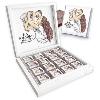 - İlk Anneler Günü Tasarımlı Kutu Çikolata