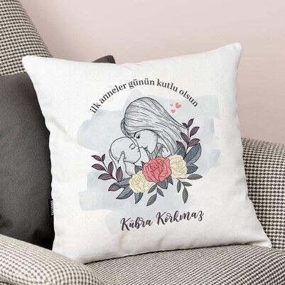 - İlk Anneler Günü Tasarımlı Yastık