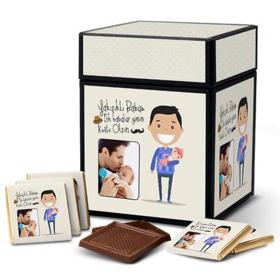 - İlk Babalar Günü Hediyesi Çikolata Kutusu