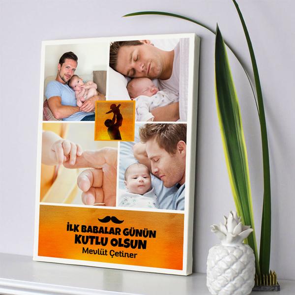 İlk Babalar Günü Temalı Kanvas Tablo