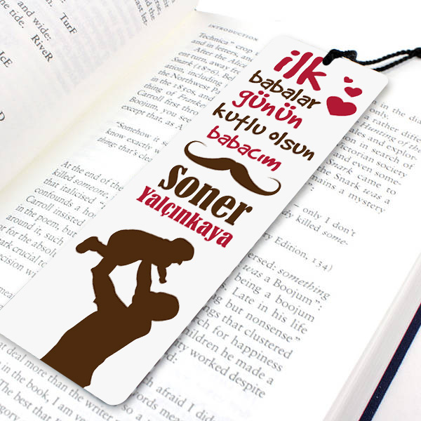 İlk Babalar Günü Temalı Kitap Ayracı