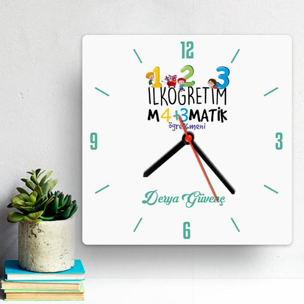 İlk Öğretim Matematik Öğretmenine Hediye Saat