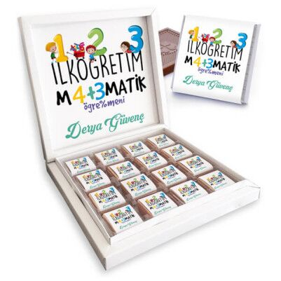 İlköğretim Matematik Öğretmenine Özel Çikolata - Thumbnail