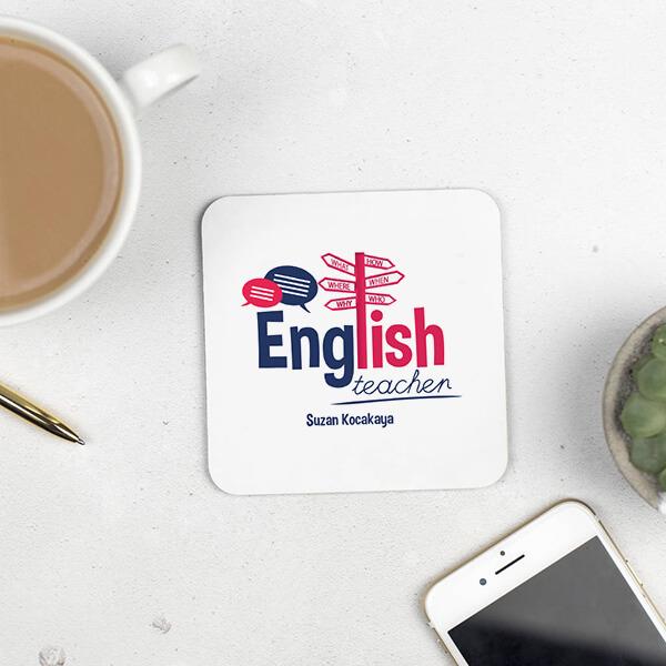 İngilizce Öğretmenine Hediye Bardak Altlığı
