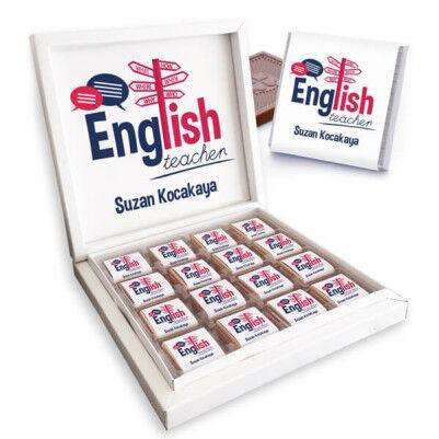 - İngilizce Öğretmenine Hediye Çikolata Kutusu