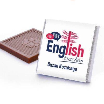 İngilizce Öğretmenine Hediye Çikolata Kutusu - Thumbnail