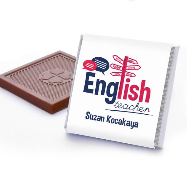 İngilizce Öğretmenine Hediye Çikolata Kutusu