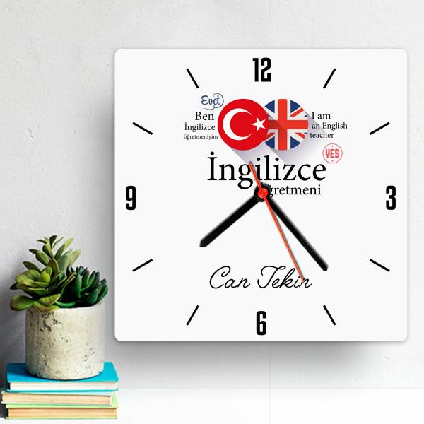 İngilizce Öğretmenine Hediye Duvar Saati