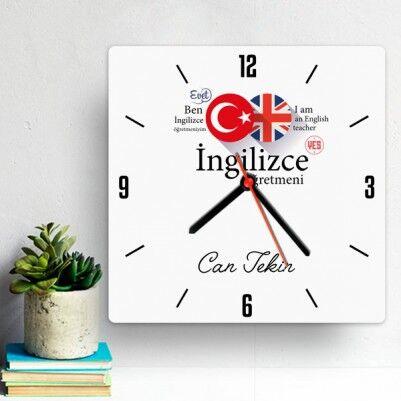 - İngilizce Öğretmenine Hediye Duvar Saati