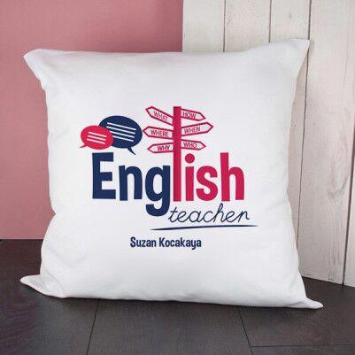 - İngilizce Öğretmenine Hediye Kare Yastık