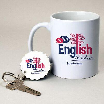 - İngilizce Öğretmenine Hediye Kupa ve Anahtarlık