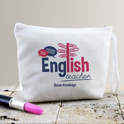 - İngilizce Öğretmenine Hediye Makyaj Çantası
