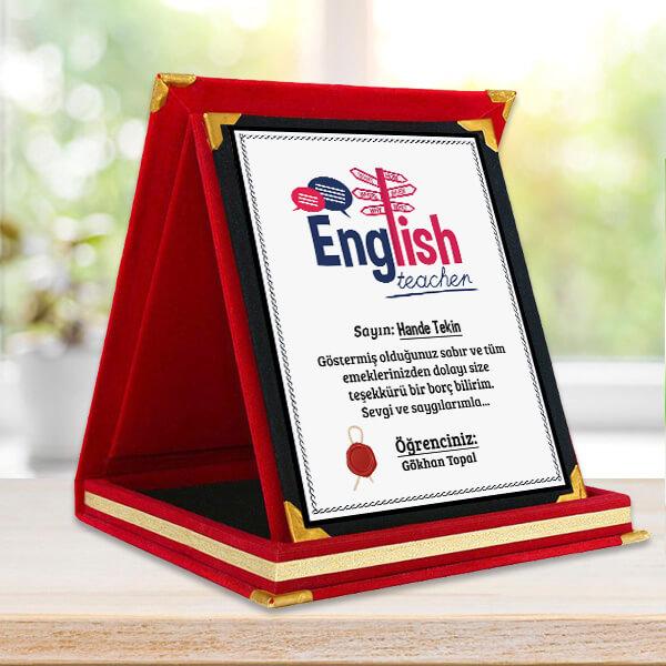 İngilizce Öğretmenine Hediye Plaket