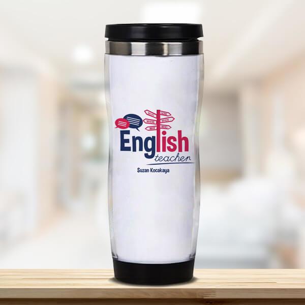 İngilizce Öğretmenine Hediye Termos Bardak