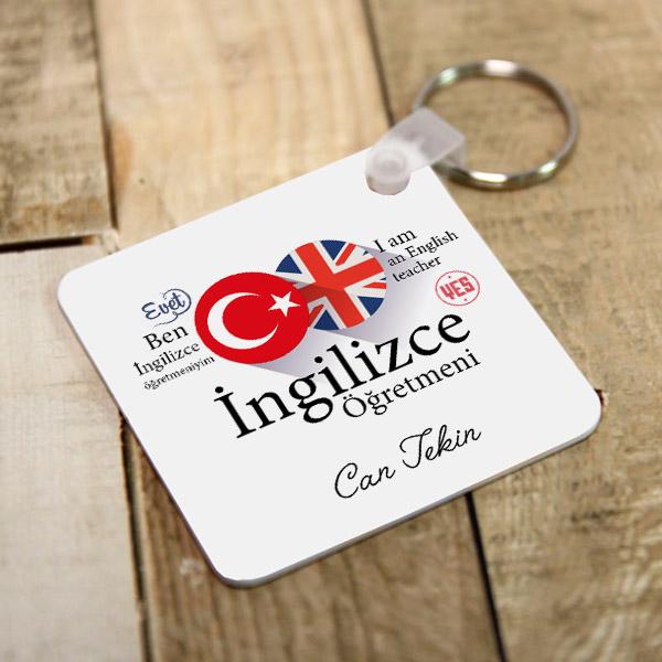 İngilizce Öğretmenine Özel Hediyelik Anahtarlık