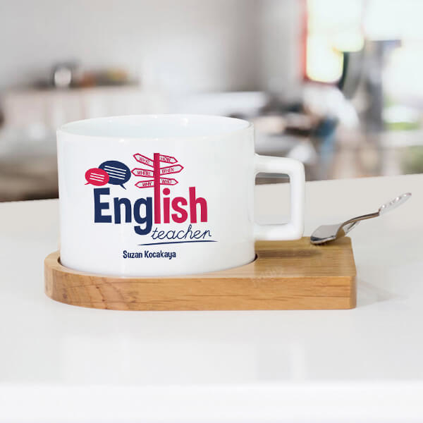 İngilizce Öğretmenlerine Hediye Çay Fincanı