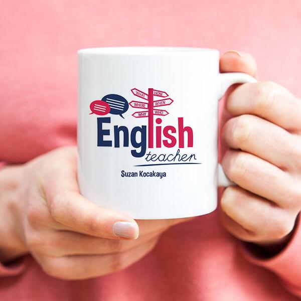 İngilizce Öğretmenlerine Hediye Kupa Bardak