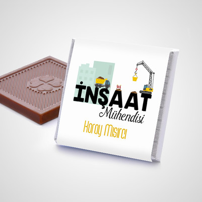 İnşaat Mühendisine Hediye Çikolata Kutusu - Thumbnail