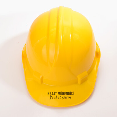 İnşaat Mühendisine Özel İsimli Baret - Thumbnail