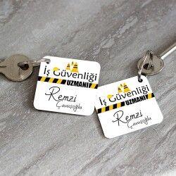 İş Güvenliği Uzmanlarına Özel Anahtarlık - Thumbnail