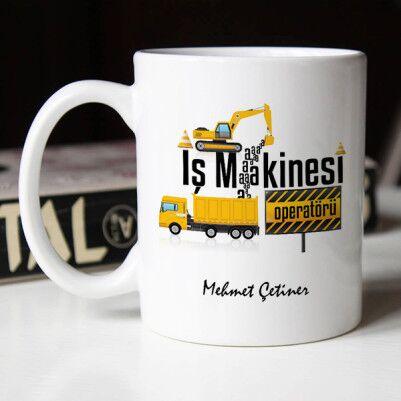 - İş Makinesi Operatörüne Hediye Kupa Bardak