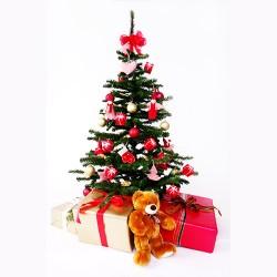 - Işıklı Yılbaşı Çam Ağacı ve Süsleri