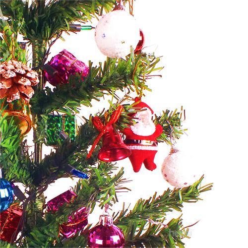 Işıklı Yılbaşı Çam Ağacı ve Süsleri