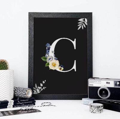 İsim Baş Harfine Özel Dekoratif Çerçeve - Thumbnail