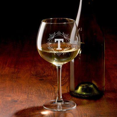 - İsim Baş Harfli Hediyelik Şarap Kadehi