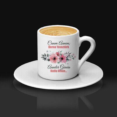 İsimli Çiçek Annem Kahve Fincanı - Thumbnail