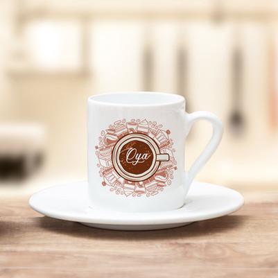 - İsimli Özel Tasarım Kahve Fincanı