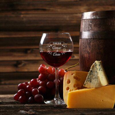 - İsimli ve Tarihli Şarap Kadehi