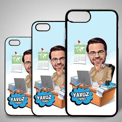 - İşkolik Karikatürlü Iphone Kapak