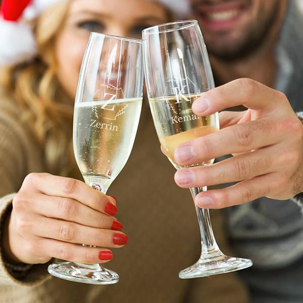 İsme Özel 2'li Şampanya Kadehi